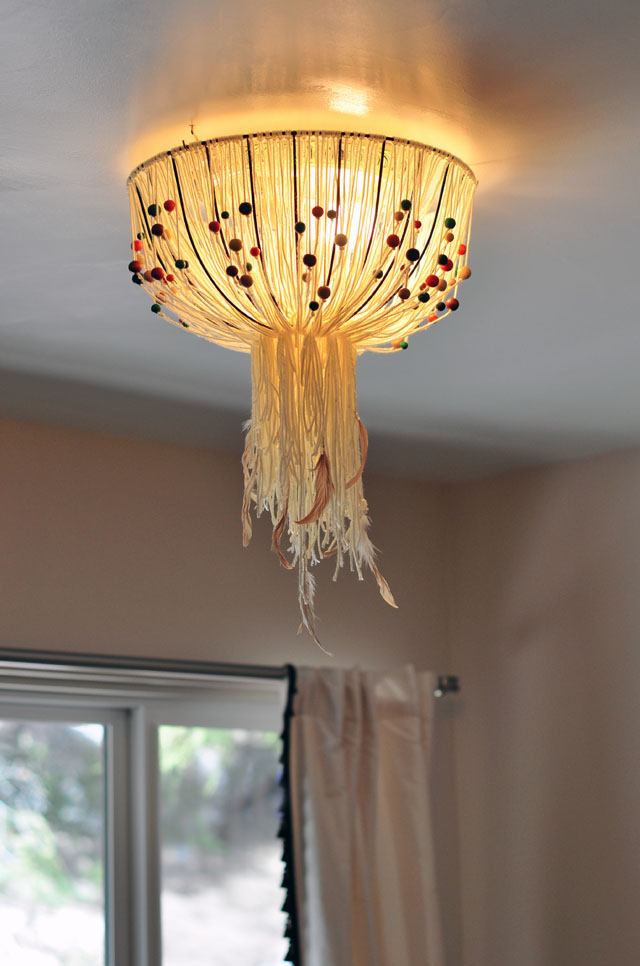 DIY Bohemian pendant lamp