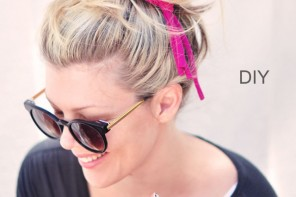 DIY Braided Jersey Hair Tie & Bracelet // from a T-shirt