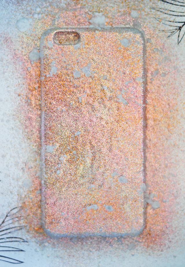 DIY Disco Glitter iPhone Case -2