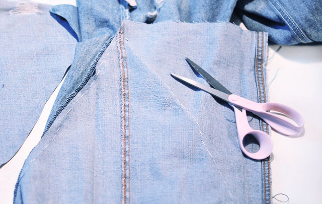 DIY Distressed Denim Culottes_Vintage Levi's-11