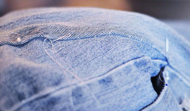 DIY Distressed Denim Culottes_Vintage Levi's-9