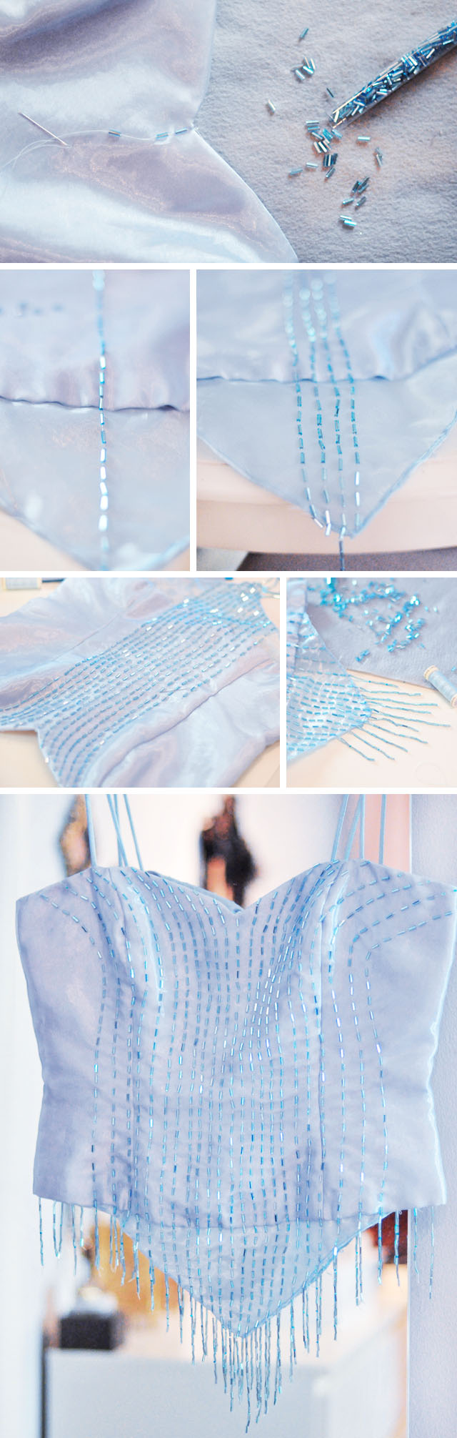 DIY Elsa Corset top-with beading