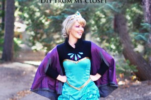 Frozen DIY Elsa Costume ~ Before Look ~ w/ Short Dress