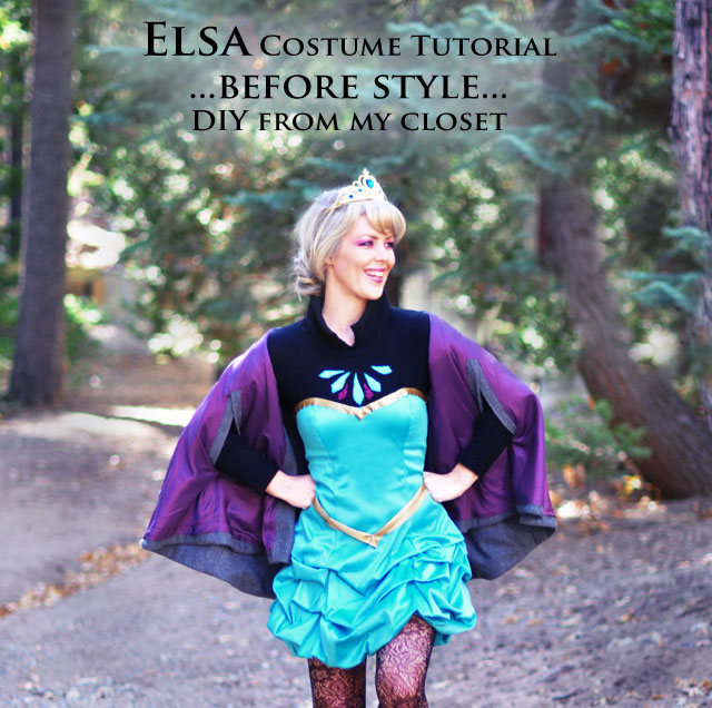 DIY Elsa costume-halloween - cosplay-short dress