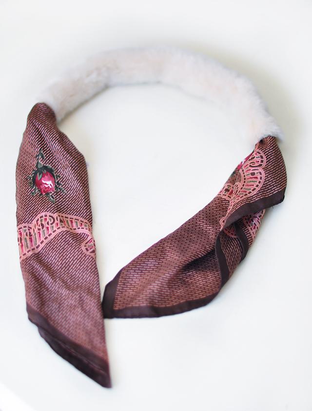 DIY Faux Fur Scarf necktie-4