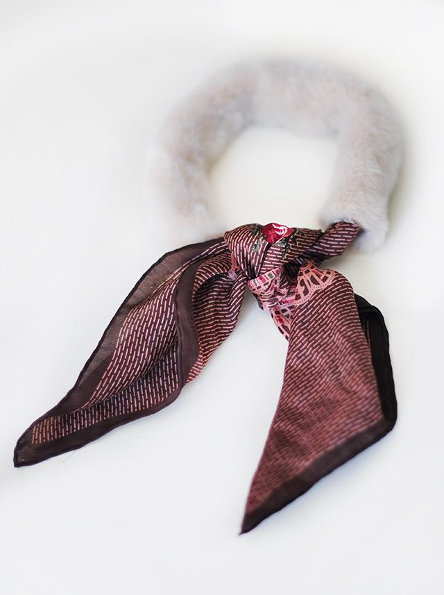DIY Faux Fur Scarf necktie-5