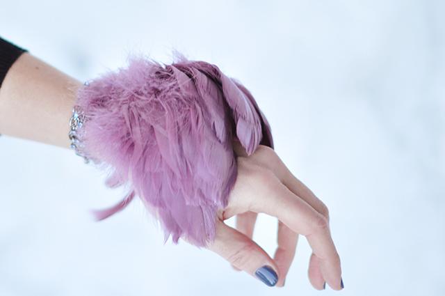 DIY Feather Bracelet Cuff
