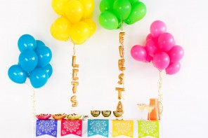 DIY 3d Gold Fiesta Bar Signs for Cinco de Mayo Parties