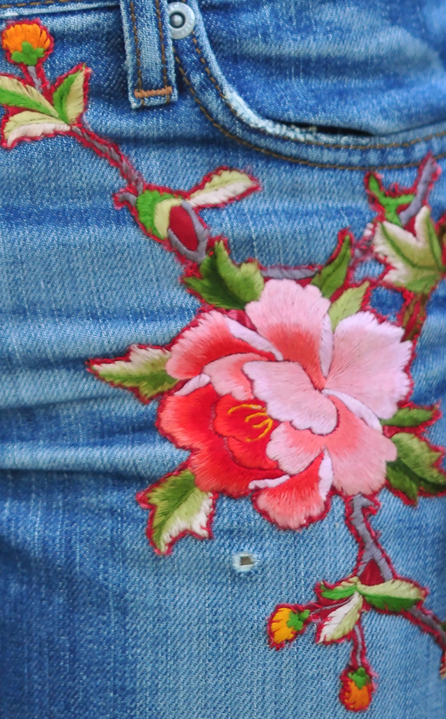 DIY Gucci Embroidered Jeans-5