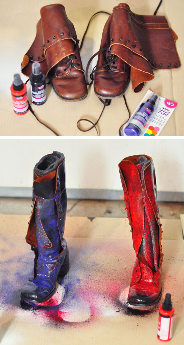 Diy harley quinn arkham knight costume details tutorials diy harley quinn boots arkham knight solutioingenieria Image collections