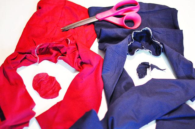 DIY Harley Quinn tights