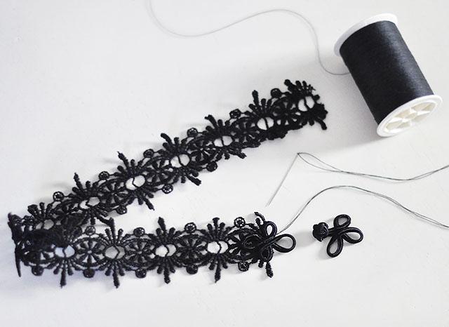 DIY Lace Choker 2