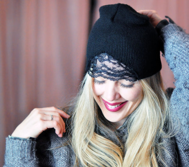 DIY Lace front beanie