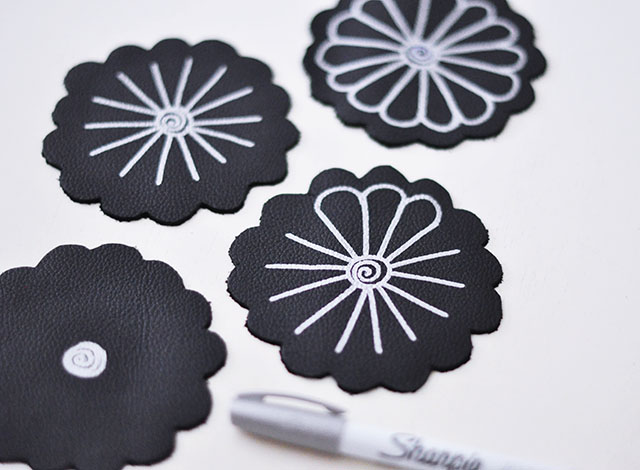 DIY Leather Flower Coasters_2
