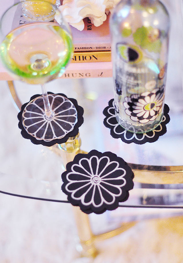 DIY Leather Flower Coasters_ED ZP wine