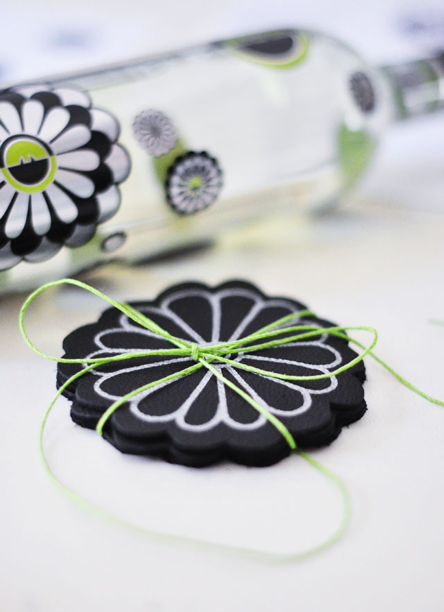 DIY Leather Flower Coasters_Zac Posen_Ecco Domani