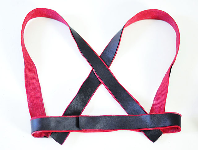 DIY Leather Harness - harley quinn arkham knight 7