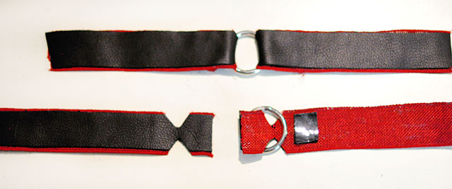 DIY Leather Harness - harley quinn arkham knight arm bands