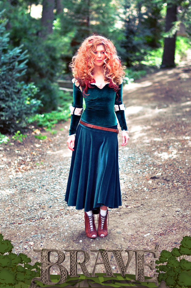 DIY Merida Costume full skirt-Brave