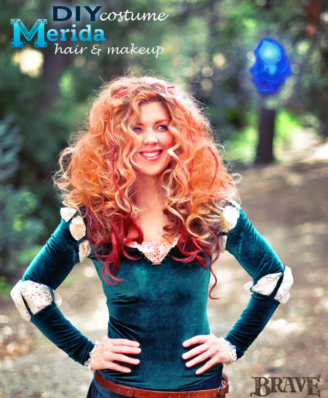 Diy Princess Merida Costume Makeup Hair Tutorials Love Maegan