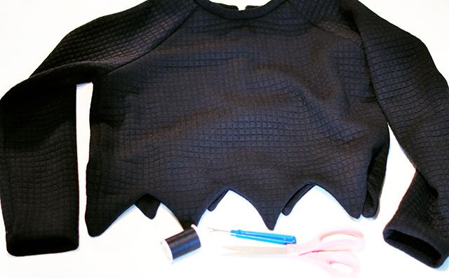 DIY Open Side Sweatshirt 1