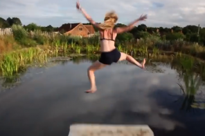 Wild Swimming in a Natural Eco-DIY Swimming Pool