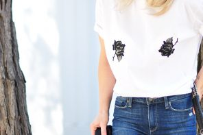 DIY Rose Patch Tee Inspired by Aimee ~ Song of Style
