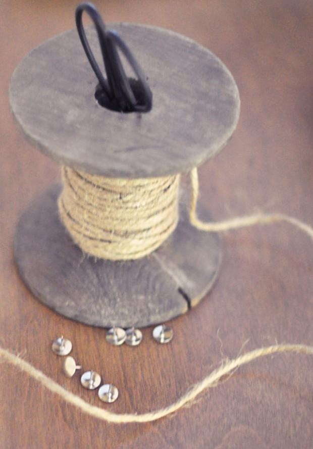 DIY Rustic Rope hanging stockings alternative