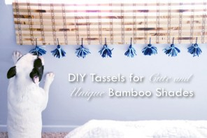 DIY Tassels for Cute & Unique Bamboo Shades