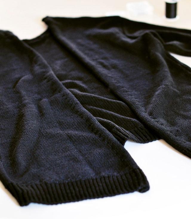 DIY Versace Inspired Big Pin Back Sweater-7