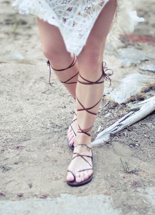 DIY easy gladiator sandals