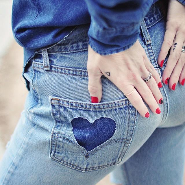 DIY heart pockets