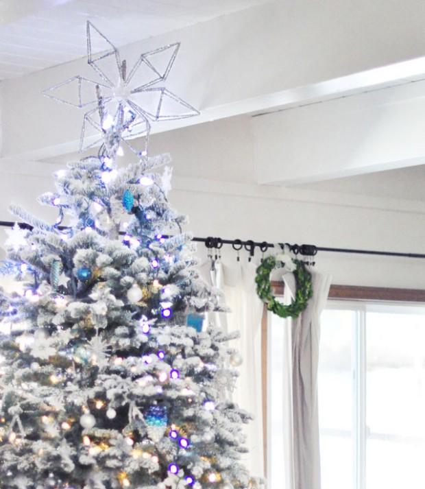 DIY snowflake tree topper- 1 pipe cleaners
