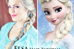 Elsa Hair Tutorial // Snow Queen Big French Braid