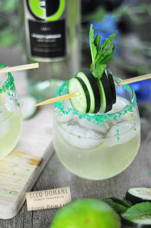 Ecco Domani Wine St Patrick's Day Cocktail