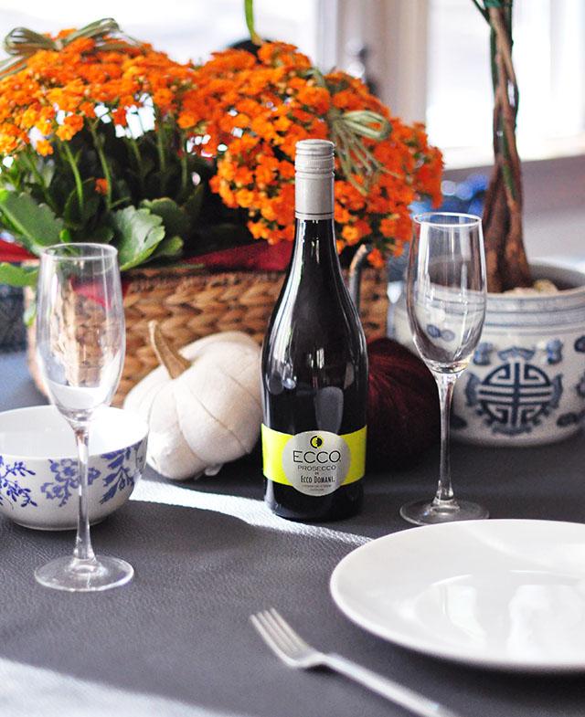 Ecco Domani Wine _ Prosecco_Fall table