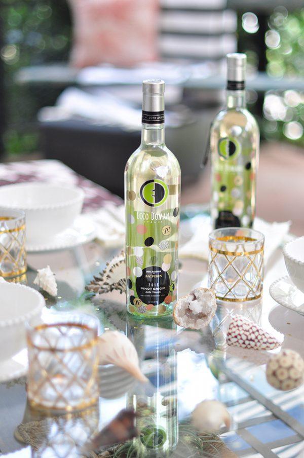 Ecco Domani Wine_Zac Posen_Festive Summer Desert Chic Tabletop
