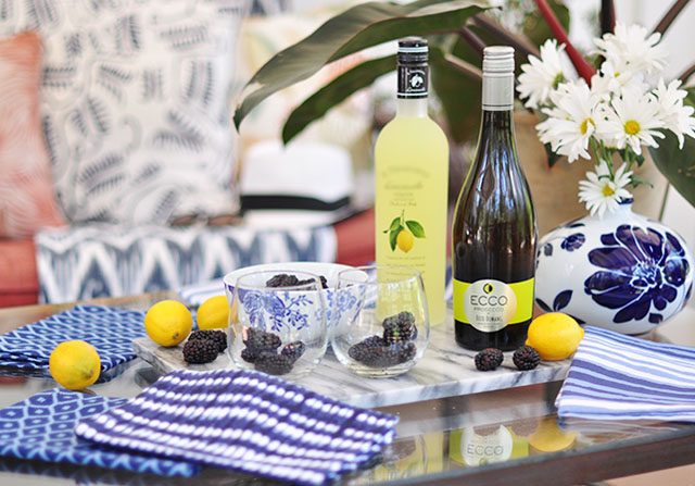 Ecco-Prosecco cocktail_blueberry limoncello