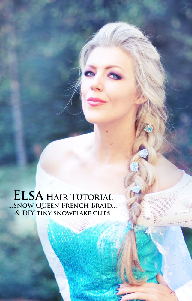 Elsa Braid Hair Tutorial + DIY Costume  sc 1 st  love Maegan & Elsa Hair Tutorial // Snow Queen Big French Braid | ...love Maegan