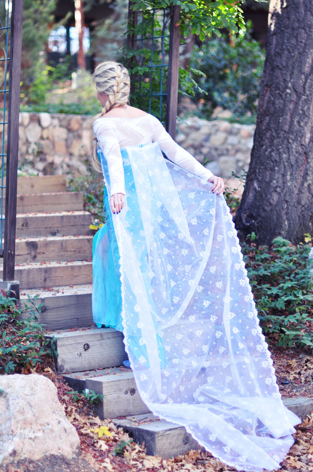 Elsa Snow Queen cape+braid