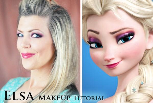 Elsa makeup - diy tutorial
