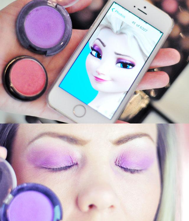 Elsa makeup tutorial-4