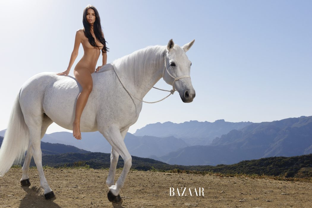 Emily Ratajkowski_ Nude_ Horse_Bazaar magazine july 2016