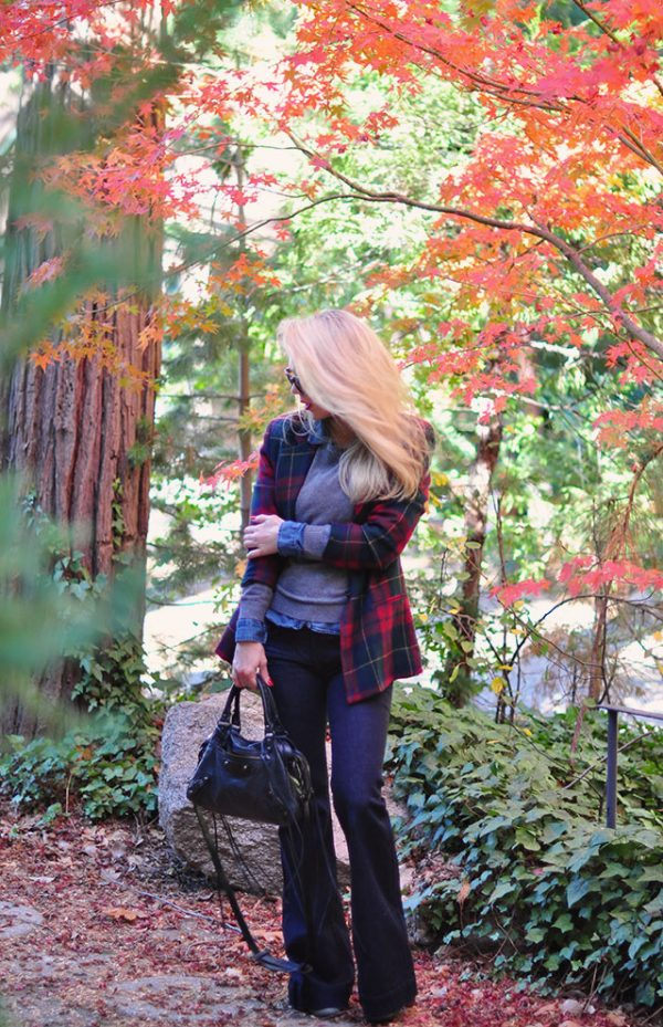 fall-style_flared-jeans_plaid-jacket