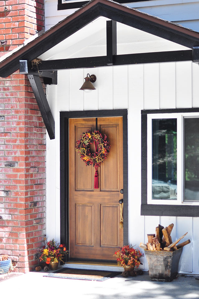 Fall home decorating - front door