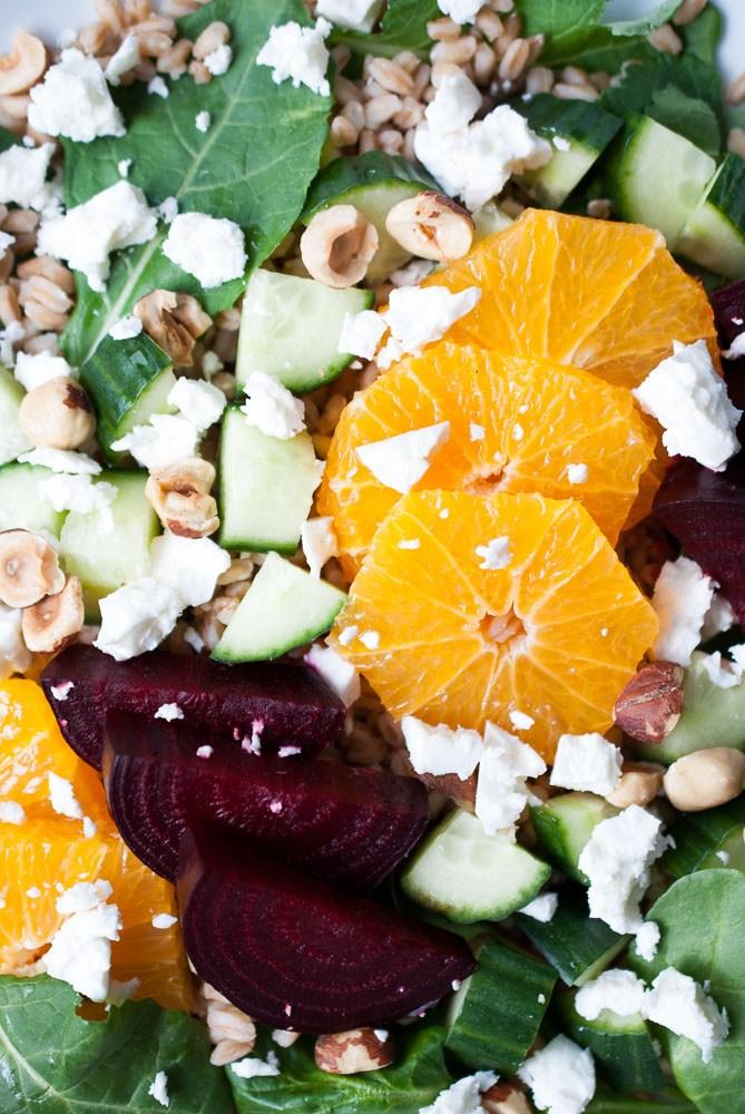 This is that salad: Farro, Roasted Beet, & Citrus Salad