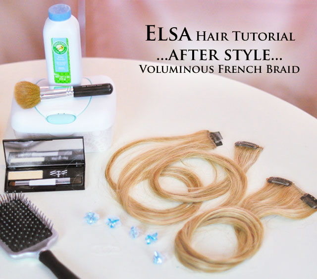 Frozen-Elsa Braid Hair Tutorial-1