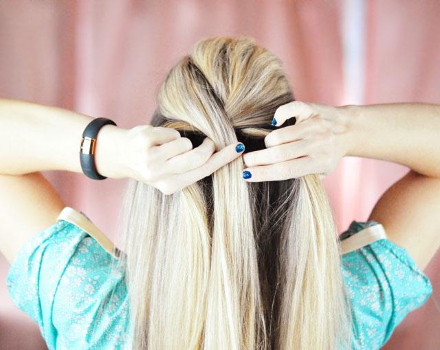 Elsa Hair Tutorial // Snow Queen Big French Braid | ...love Maegan