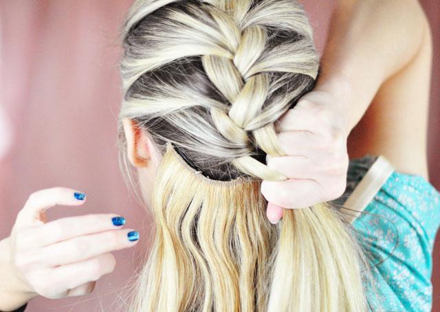 Elsa hair tutorial snow queen big french braid love maegan frozen elsa braid hair tutorial 4 ccuart Gallery