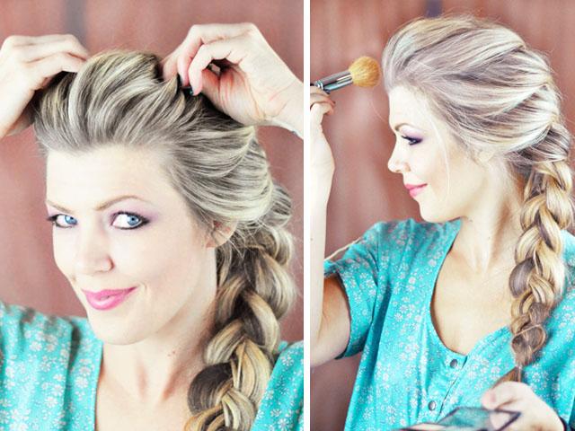 Queen Hairstyles: Elsa Hair Tutorial // Snow Queen Big French Braid